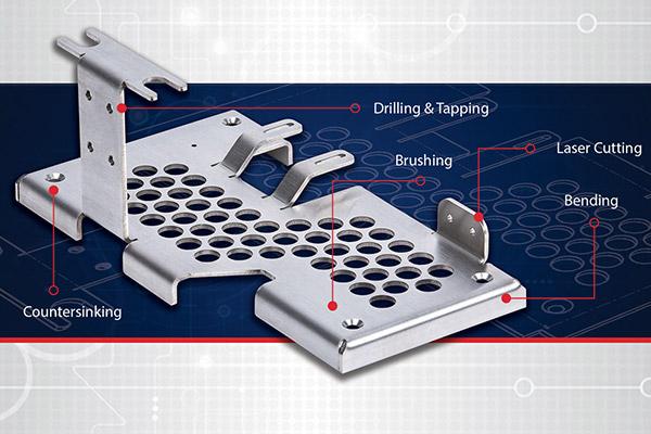 Laser Cutting - Drilling & Tapping, Brushing, Countersinking, Bending